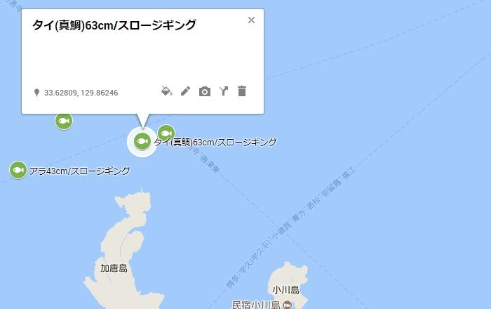 加唐島の北沖1キロ付近