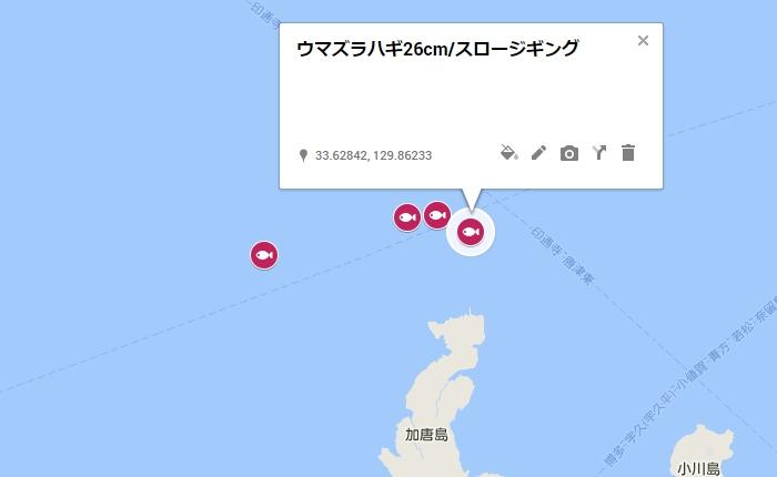 ウマズラハギ26cm/加唐島の北沖1キロ付近